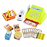 Funmily Toy Cash Register Set for Boys and Girls, Baby Toddler Toy Plastic Supermarket, Cash Register Toy with Realistic Electronic Sounds