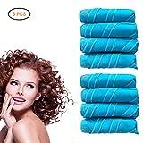 Hair Curlers Nighttime Hair Curlers Heat-free Long or Short Hair Rollers DIY Curls Styling Kit 8PCS/12 Pcs (8 pcs large)
