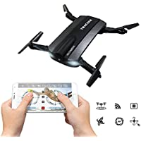 Foldable RC Quadcopter With FPV HD Camera WiFi Live Video, JXD 523W App Phone Control Drone 2.4G 6-Axis Altitude Hold 3D Flips Helicopter