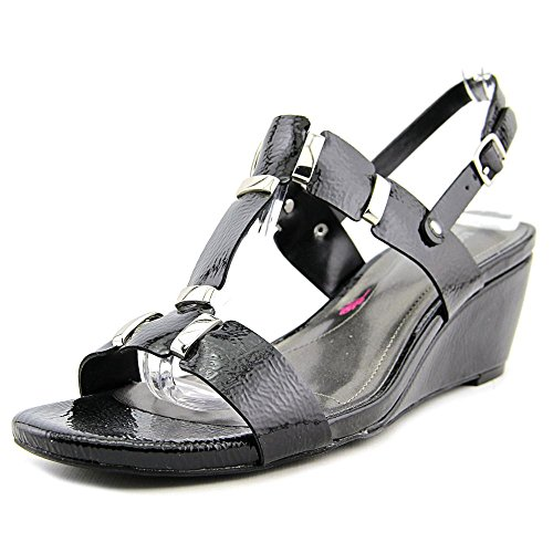Ros Hommerson Women's Willow Sandal,Black Patent Polyurethane,US 9 M -