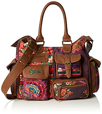 Desigual London AlikaBolso MujerMorado3078 Medium Bandolera vnN8wOm0