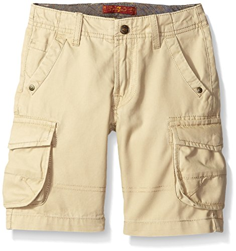 7 For All Mankind Boys' Big 7 Pocket Twill Carson Cargo Short, Stone, 10