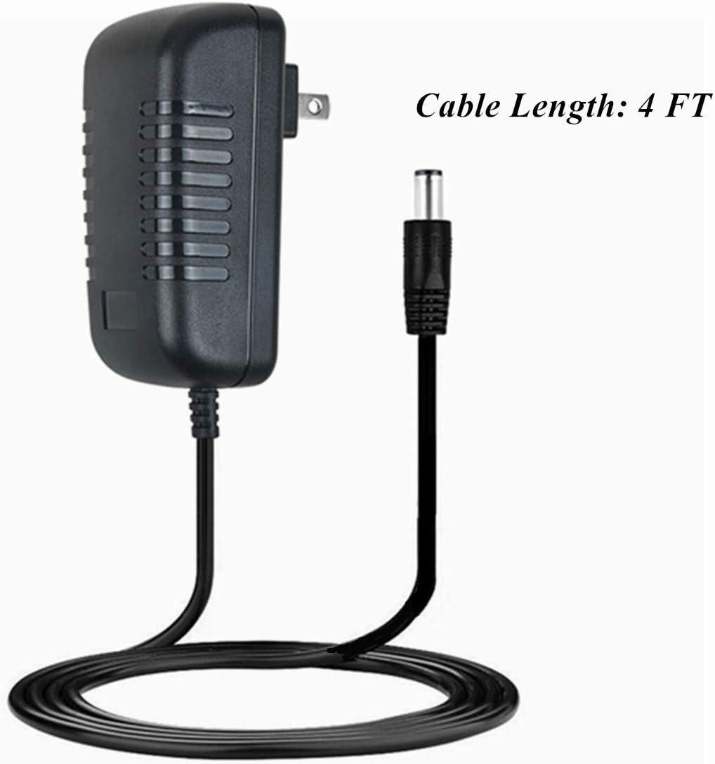 HISPD AC//DC Adapter for Blackmore BTU-5001 BTU-5001B BTU-5001J Rechargeable Wireless Bluetooth Stereo Speaker Portable Amplified Audio System Black More BTU5001 BTU5001B BTU5001J