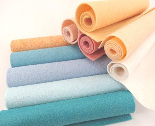 Merino Wool Felt - 10-9X12 inch Spring Vacation Collection Merino Wool Blend Felt OTR Felt Made in USA