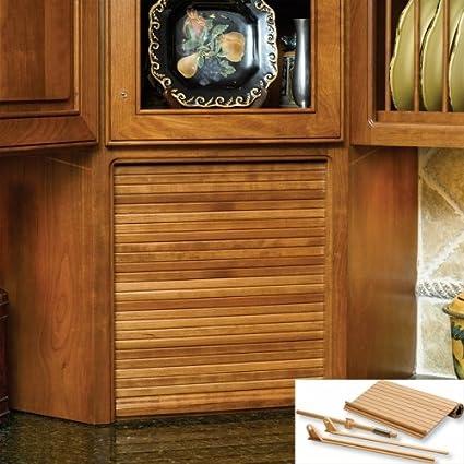 24 Wide Tambour Door Kit Red Oak Kitchen Storage And