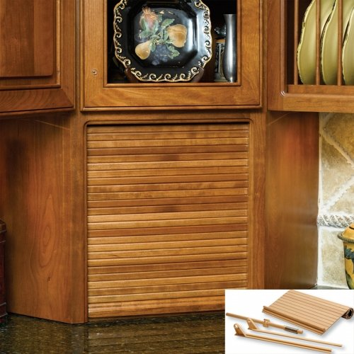 (Omega National Products Cherry Veneer Tambour Door and ST-2 Track System - 24