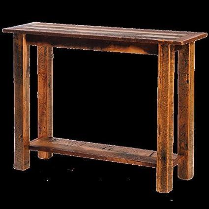 Amazon Com Barnwood Sofa Table With Open Shelf Real High Quality