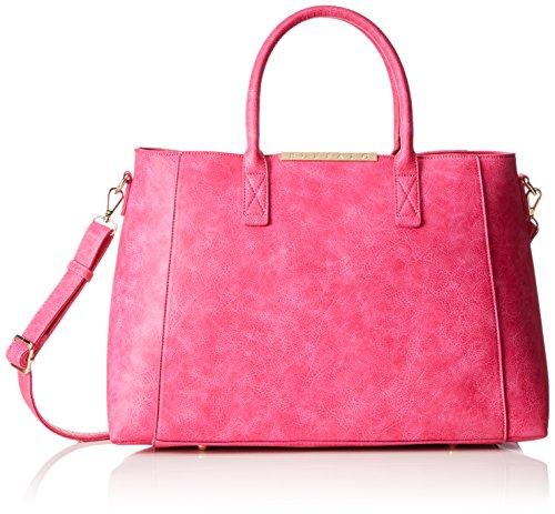 01 H Leather 20x30x36 Cm X Bwg Maniglia Buffalo Donna 06 T Pu Bag b Borsa fuchsia Con Rosa q4qwOT