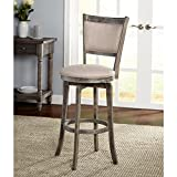 French Country Bar Stools Simple Living French Country Grey Rubberwood/Fabric 30-inch Swivel Bar Stool