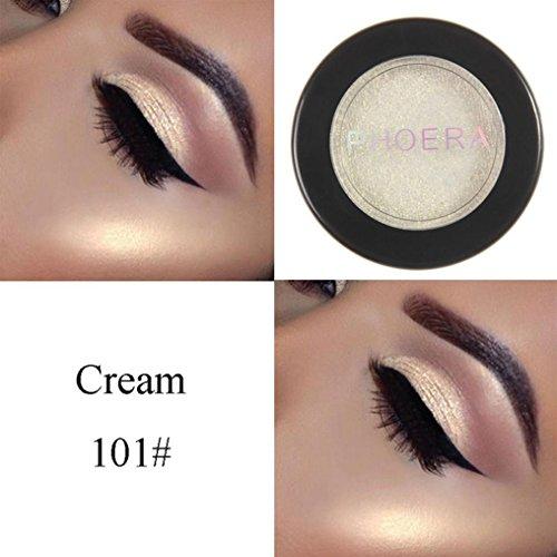 Unpara PHOERA Glitter Eyeshadow Powder Shimmer Metallic Eye Shadow Palette Cosmetic (A)