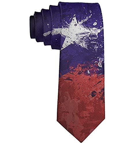 Corbata de moda para hombre, dibujo, bandera de Chile, corbata de ...