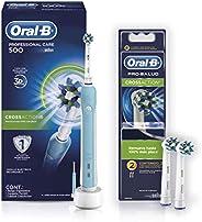 Oral-B Oral B Professional Care Cepillo Eléctrico Recargable 500 + Oral-B Cabezales de Repuesto Cross Action 2