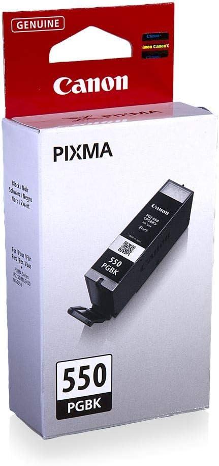 Canon Pgi 550 Pgbk Druckertinte Pigment Schwarz 15 Ml Für Pixma Tintenstrahldrucker Original Bürobedarf Schreibwaren