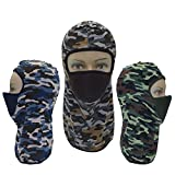 thermal airsoft sight - IINDYD Balaclava Face Cover Mask Ski Winter Fleece Outdoor Hood Motorcycle Tactical Running Hiking Thermal Cycling Sport For Men and Women Ninja Pack of 3