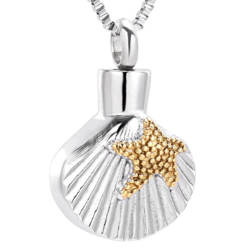 Ocean Collection Cremation Urn Necklace Salmon Fish Pendant Memorial Jewelry for Ashes