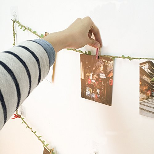 50 Pcs Painted Wooden Photo Clips,Clothespin Home Bedroom Wall Decoration Data Files Activities Promotional Folders by ANZOME (Image #1)
