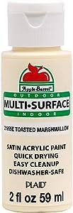Apple Barrel Multi Surface Acrylic Paint, 2 oz, Toasted Marshmallow 2 Fl Oz