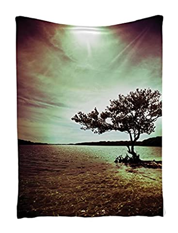 Tapestry Wall Hanging Lonely Tree Scene for Living Room Bedroom and Dorm Decor Accessories College List One of a Kind Machine Washable Silky Satin in Woodsy Wall Decor, Burgundy Green - Christmas Tree Tapestry