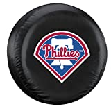 MLB Philadelphia Phillies Tire Cover, Black, Large