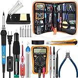 handskit Soldering Iron Kit, 18-in-1 Soldering Kit 60W 110V Adjustable Temperature Controlled Welding