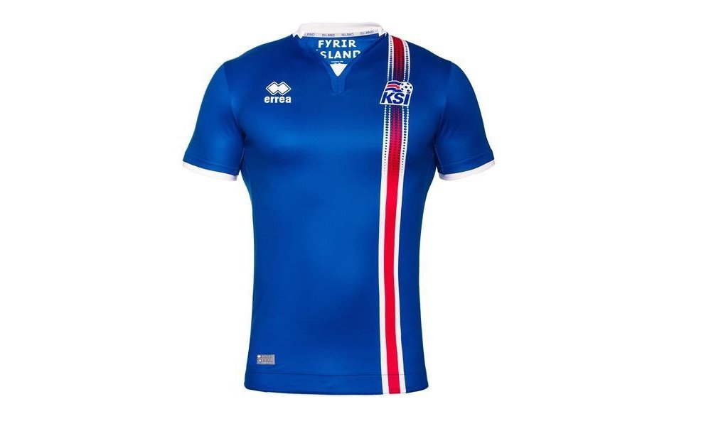 2016-2017 Iceland Home Errea Football Shirt (Kids) B01EUZOTR0Blue Large Boys