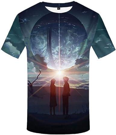 Camiseta psicodélicaXYSONE parahombre Camiseta Hip Hop 3D Space Camisetaestampada conagujero Negro Vortex Anime Ropa para Hombre Casual Streetwear Top: Amazon.es: Ropa y accesorios