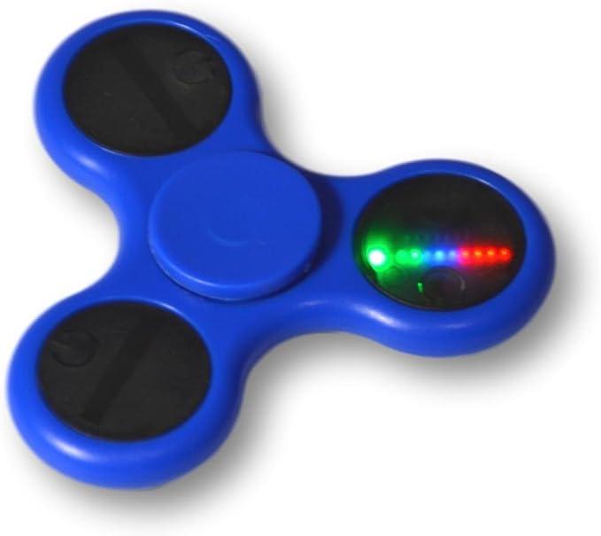 Tumi ShenZhen Fidget spinner LED con varios efectos de luz. Varios colores (Azul): Amazon.es: Juguetes y juegos