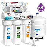 Home Drinking Water Purification Express Water ROALK5D 10-Stage Alkaline Reverse Osmosis Home Drinking Water Filtration System with 5 Stage Alkaline Mineral pH+ Antioxidant Remineralization Filter - 50 GPD