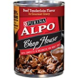Purina ALPO Chop House Beef Tenderloin Flavor in Gourmet Gravy Wet Dog Food – Twelve (12) 13 oz. Cans