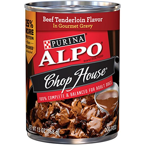 Purina ALPO Chop House Beef Tenderloin Flavor in Gourmet Gravy Wet Dog Food - Twelve (12) 13 oz. Cans