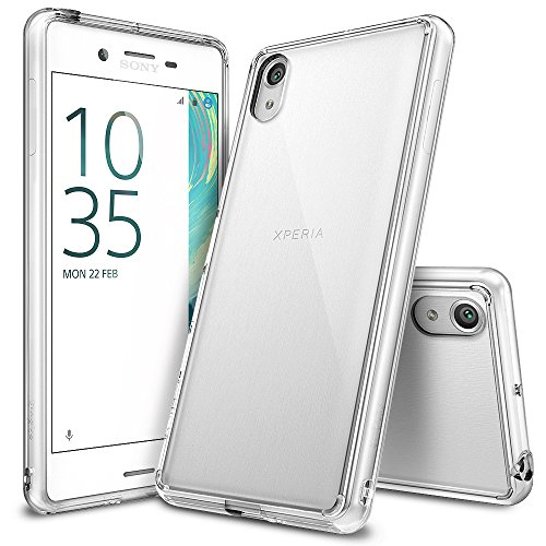 Ringke [Fusion] Compatible with Sony Xperia X Case Crystal Clear PC Back TPU Bumper [Drop Protection/Shock Absorption Technology] Raised Bezels Protective Cover for Sony Xperia X 2016 - Clear