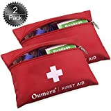 Oumers First Aid Kit, Medical Survival Bag for Car Home Outside Adventures Bruises Emergency Trauma Situations, Lightweight & Complete