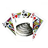 Black Marine Life Scallop Illustration Poker Playing Card Tabletop Board Game Gift