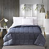 Alternative Comforter - YGJT Lightweight Solid Comforter Blanket Queen Goose Down Alternative Comforter Ultra Soft All Seasons Comforter Duvet Machine Washable Grey
