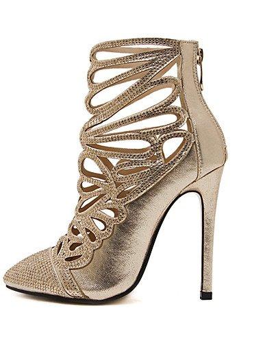 GGX/ Damen-High Heels-Büro / Kleid-Leder-Stöckelabsatz-Absätze-Gold golden-us6.5-7 / eu37 / uk4.5-5 / cn37