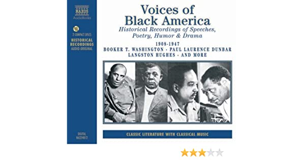 Humor /& Drama Voices of Black America Historical Recordings of Speeches Poetry