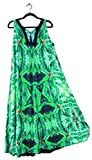 Hawaiian Floral Maxi Dress. Women Plus Size Wedding Resort Blue Widow Fractal Art Design-XL/XXL