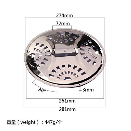 Chrome Iron Cover Plate for Resonator Dobro Guitar Parts ()