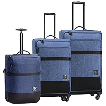 Caterpillar 1904 Originals 71, 61, 50cm Suitcase, (Denim Blue), (83487-358)