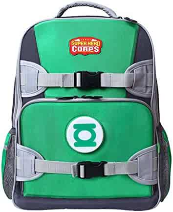 YOURNELO Boy s Marvel DC Super Heroes LED Backpack Canvas School Bag Bookbag 9b2126a4f0