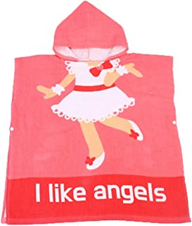Tunica con cappuccio spa Sweet Girls Pretty Angels Accappatoio Biologico Cotone Bambini Bambini Bebè Costumi da bagno Costumi da bagno Asciugamani da spiaggia Bagno Accappatoio da bagno con cappuccio