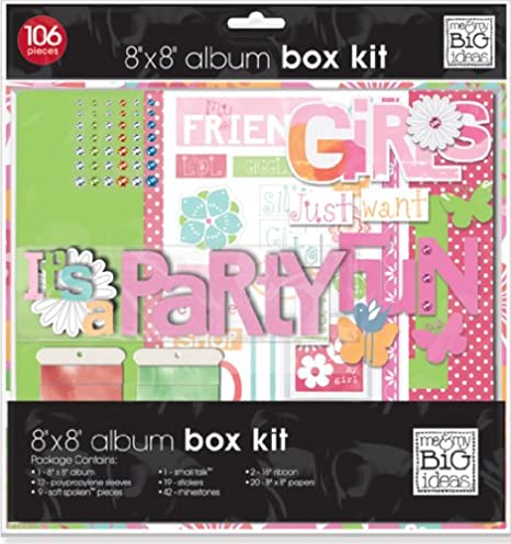 me /& my BIG ideas Girls Just Want to Have Fun Scrapbook Kit 8-Inch by 8-Inch