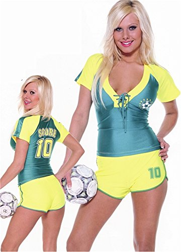 Sexy Soccer Player Adult Medium Sports Party Outfit Costume