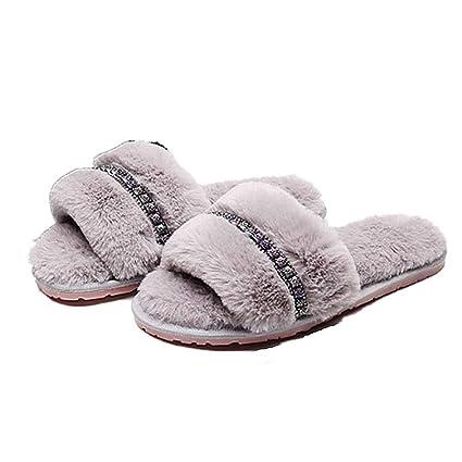 Zapatos cómodos antideslizantes Calce la mayoría de las zapatillas de invierno: zapatillas de punta abierta