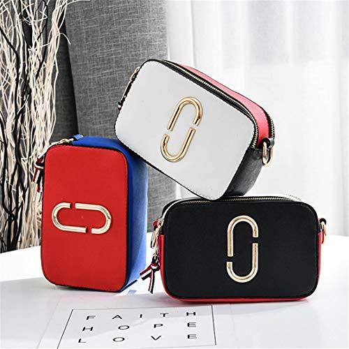 Fashion Borse Tote Layxi Colore Resistenti Spalla Borsa Morbido Donna Borse Messenger Splicing Piccoli Borse Square Elegante Rosso Classica txOHCw