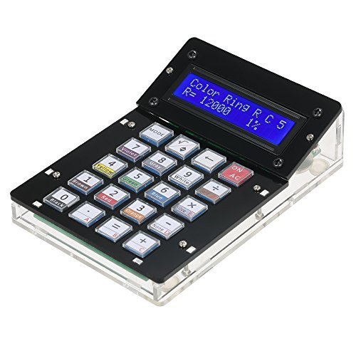 KKmoon DIY Calculator Counter Kit with Acrylic Case LCD Display Multi-Purpose Electronic Calculator Counter Electronics Computing (Calculator Hexadecimal)
