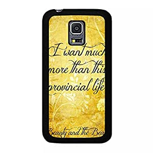 Samsung Galaxy S5 Mini Golden Quotes Beauty And The Beast Phone Case Cover Beauty And The Beast Stylish