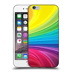 """Super Galaxy Coque de Protection TPU Silicone Case pour // V00000409 Extracto del fondo del arco iris // Apple iPhone 6 6S 6G PLUS 5.5"""""""