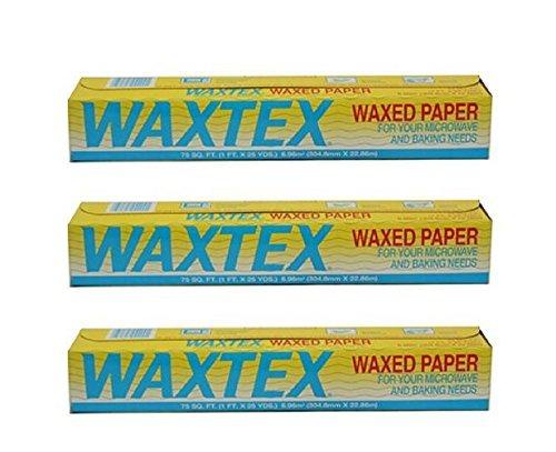(Waxtex Wax Paper Roll (75 feet) - Pack of 3)