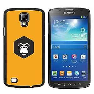LECELL--Funda protectora / Cubierta / Piel For Samsung Galaxy S4 Active i9295 -- lindo gorila amarilla --